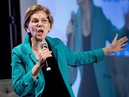 Democratic presidential candidate Sen. Elizabeth Warren, D-Mass., speaks Sunday, Jan. 19, 2020, in Des Moines, Iowa. (AP Photo/Andrew Harnik)