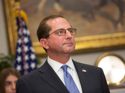 WASHINGTON, DC - JANUARY 29: (AFP-OUT) Alex Azar attends his swearing in to become the new Secretary of the Department of Health and Human Services on January 29, 2018 at The White House in Washington, DC. (Photo by Chris Kleponis-Pool/Getty Images)