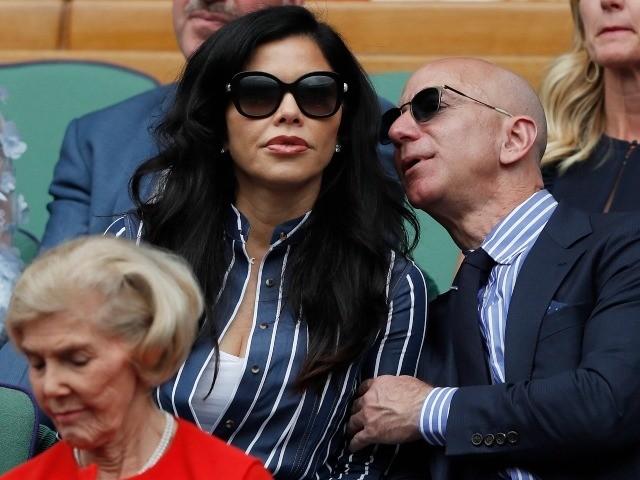 Amazon CEO Jeff Bezos and Lauren Sanchez