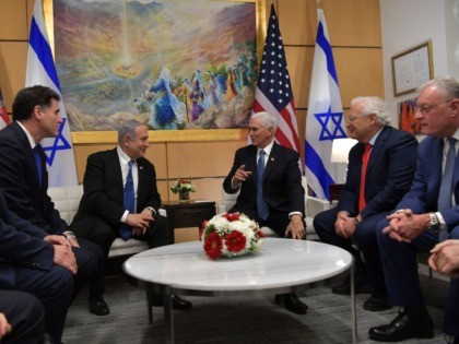 Prime Minister Benjamin Netanyahu is currently meeting with US Vice President Mike Pence at the US Embassy in Jerusalem.