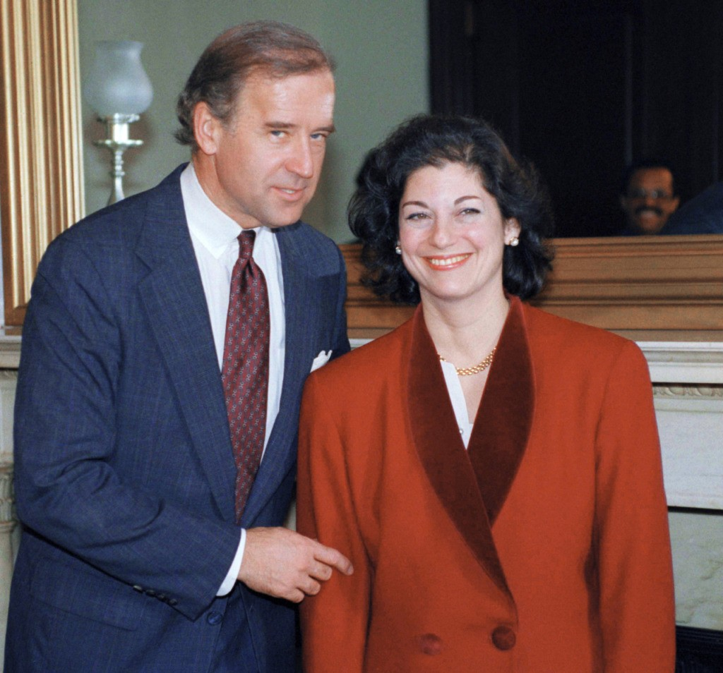 Attorney General-designate Zoe Baird meets with Sen. Joseph Biden (D-Del.), chairman of the Senate Judiciary Committee on Capitol Hill in Washington, Jan. 6, 1993. Biden will chair the committee during Baird's confirmation hearings. (AP Photo/Ron Edmonds)