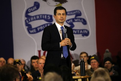 CEDAR FALLS, IOWA - JANUARY 15: Democratic presidential hopeful former South Bend, Indiana mayor Pete Buttigieg speaks to voters in Cedar Falls on January 15, 2020 in Cedar Falls, Iowa. The former mayor is on a campaign swing through the state before the state's primary next month. (Photo by Spencer …