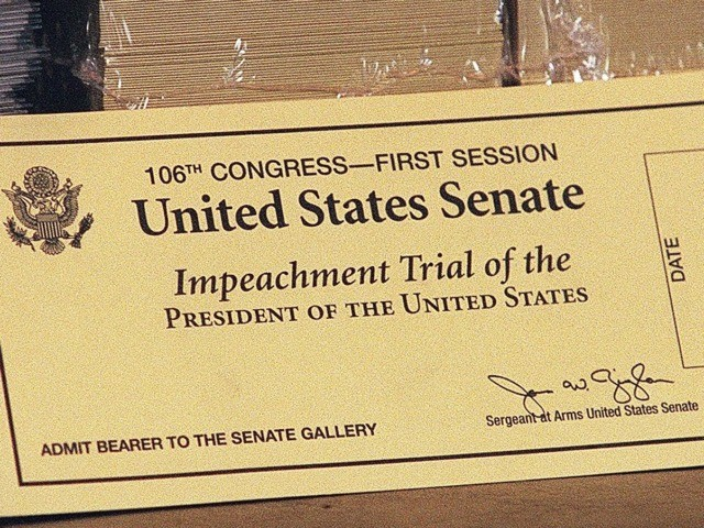 Clinton Impeachment ticket (William Philpott / Getty)