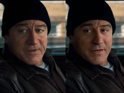 Deepfake of Robert De Niro in The Irishman