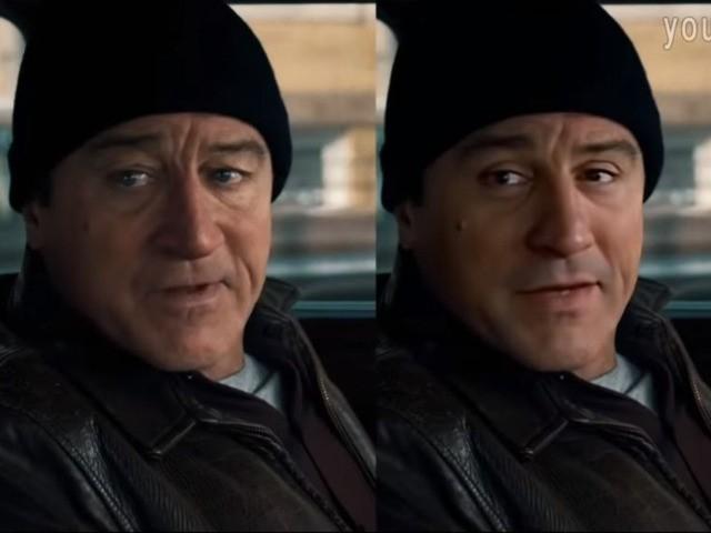 Deepfake of Robert De Niro in The Irishman