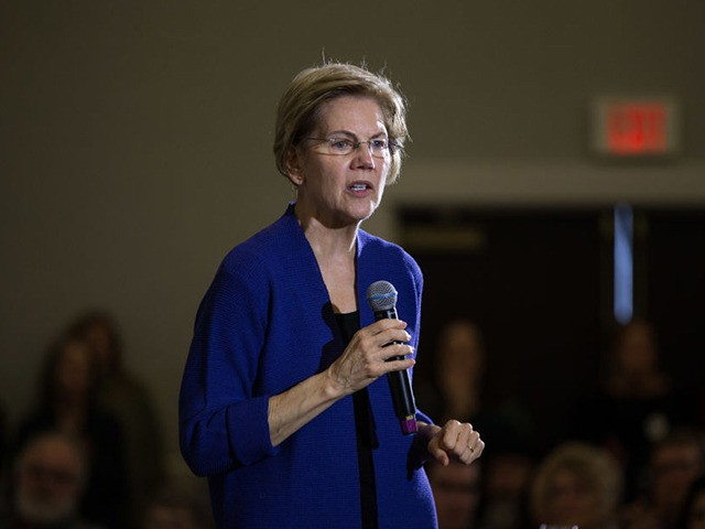 CONCORD, NH - JANUARY 02: Democratic presidential candidate Sen. Elizabeth Warren (D-MA) speaks on stage during her first campaign event of 2020 on January 2, 2020 in Concord, New Hampshire. The Iowa caucuses, the first nominating contest in the Democratic presidential primary season, will take place on February 3. (Photo …