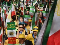 Free Iran rally (Angela Weiss / AFP / Getty)