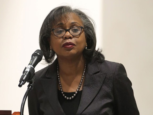 SALT LAKE CITY, UT - SEPTEMBER 26: Professor Anita Hill gives a speech to students, faculty and guests on the campus of the University of Utah on September 26, 2018 in Salt Lake City, Utah. Hill, who was involved in the hearing for Supreme Court Justice Clarence Thomas in 1991, …