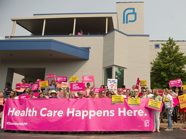 ST LOUIS, MO - MAY 31: Pro-Choice supporters, along with Planned Parenthood staff celebrate and rally outside the Planned Parenthood Reproductive Health Services Center on May 31, 2019 in St Louis, Missouri. A judge has issued an order allowing Missouri's only abortion clinic to continue providing the service and maintaining …