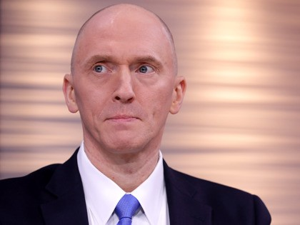 WASHINGTON, DC - MAY 29: Global Natural Gas Ventures founder Carter Page participates in a discussion on 'politicization of DOJ and the intelligence community in their efforts to undermine the president' hosted by Judicial Watch at the One America News studios on Capitol Hill May 29, 2019 in Washington, DC. …