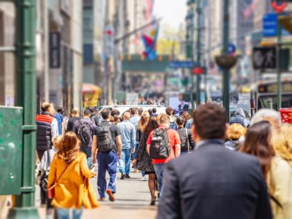 People walking on New York City street