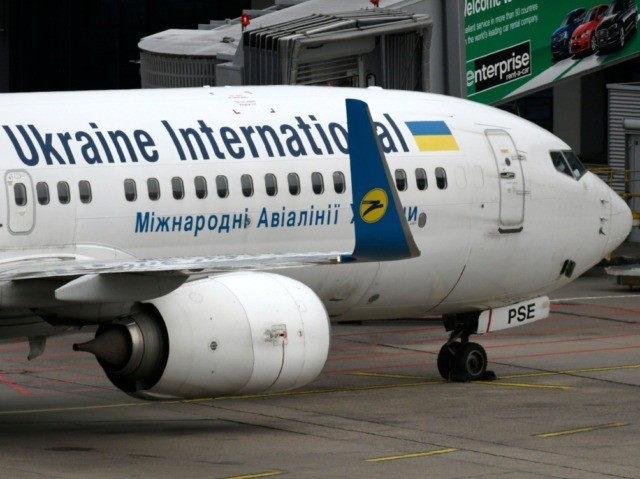 This picture shows a Boeing 737-800 of the Ukraine International airline on September 24, 2019 at the airport in Duesseldorf, western Germany. (Photo by INA FASSBENDER / AFP) (Photo by INA FASSBENDER/AFP via Getty Images)