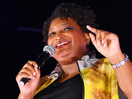 BROOKLYN, NEW YORK - SEPTEMBER 21: Bustle 2019 Rule Breakers honoree Stacey Abrams speaks onstage at Bustle's 2019 Rule Breakers Festival at LeFrak Center at Lakeside on September 21, 2019 in Brooklyn, New York. (Photo by Dia Dipasupil/Getty Images for Bustle)