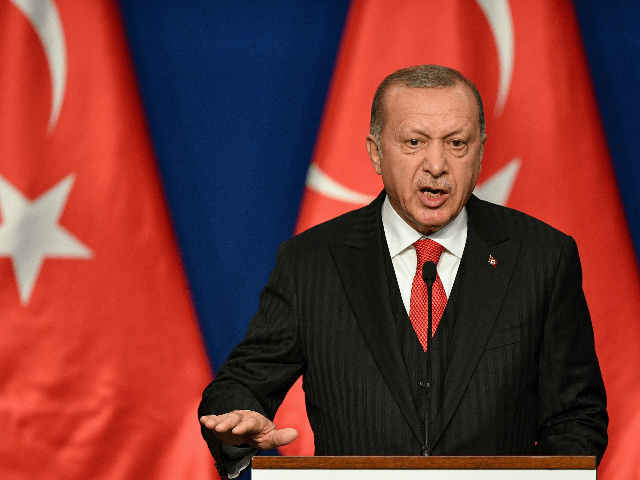 Turkish President Recep Tayyip Erdogan pictured during a visit to Hungary earlier in November 2019