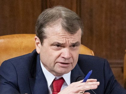 WASHINGTON, DC - NOVEMBER 20: U.S. Rep. Mike Quigley (D-IL) questions Gordon Sondland, the U.S ambassador to the European Union, during a hearing before the House Intelligence Committee in the Longworth House Office Building on Capitol Hill November 20, 2019 in Washington, DC. The committee heard testimony during the fourth …