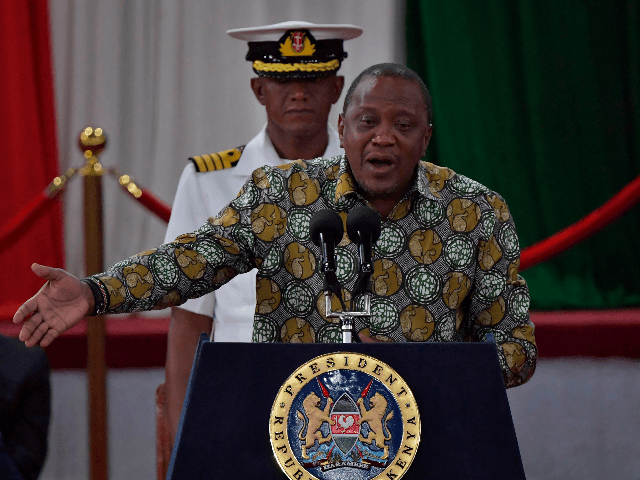 Kenya's President, Uhuru Kenyatta gives an address on November 27, 2019, during the launch of the Building Bridges Initiative (BBI) report in Nairobi, that was attended by opposition leader and former Prime Minister, Raila Odinga and Deputy President, William Ruto, that ushers a national discussion on the future of Kenya …