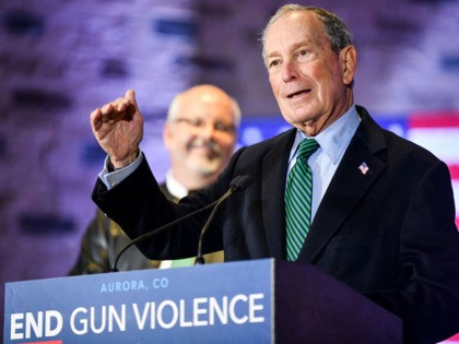 AURORA, CO - DECEMBER 05: Democratic presidential candidate, former New York City Mayor Michael Bloomberg speaks during an event to introduce his gun safety policy agenda at the Heritage Christian Center on December 5, 2019 in Aurora, Colorado. The event, which was closed to the public, was held with survivors …