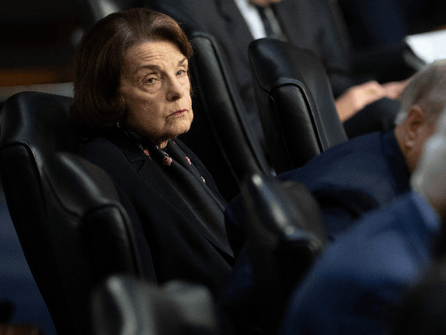 Senate Judiciary Ranking Member Dianne Feinstein, Democrat of California, attends a Senate Judiciary Committee hearing with Justice Department Inspector General Michael Horowitz testifying about the Inspector General's report on alleged abuses of the Foreign Intelligence Surveillance Act (FISA) on Capitol Hill in Washington, DC, December 11, 2019. (Photo by SAUL …