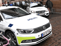 Police arrive at Copenhagen City Court in Copenhagen on Thursday, December 12, 2019. - Twenty people have been arrested and 20 addresses have been searched Wednesday, December 11, 2019 in connection with a major anti-terrorist campaign. Those arrested are being questioned now in the constitutional hearing. (Photo by Philip Davali …