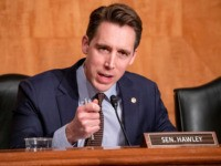 WASHINGTON, DC - DECEMBER 18: Sen. Josh Hawley (R-MO) questions Department of Justice Inspector General Michael Horowitz during a Senate Committee On Homeland Security And Governmental Affairs hearing at the US Capitol on December 18, 2019 in Washington, DC. Last week the Inspector General released a report on the origins …