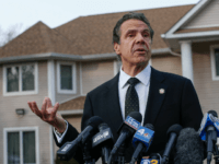 New York Governor Andrew Cuomo speaks to the media outside the home of rabbi Chaim Rottenbergin Monsey, in New York on December 29, 2019 after a machete attack that took place earlier outside the rabbi's home during the Jewish festival of Hanukkah in Monsey, New York. - An intruder stabbed …