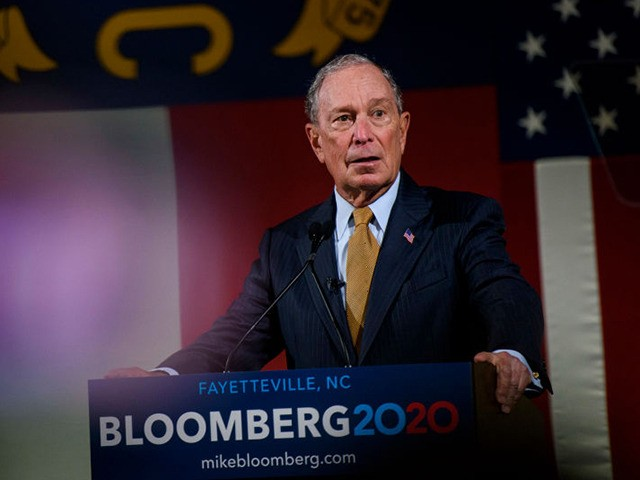 FAYETTEVILLE, NC - JANUARY 03: Democratic Presidential candidate Michael Bloomberg addresses a crowd of community members and elected officials at the Metropolitan Room on January 3, 2020 in Fayetteville, North Carolina.After expressing several campaign promises, Bloomberg shook hands and took photos with dozens of people in a campaign kick off …