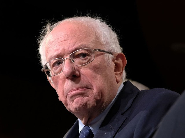 WASHINGTON, DC - JANUARY 09: Sen. Bernie Sanders (I-VT), listens during a press conference on Capitol Hill presenting the No War Against Iran Act on Thursday, January 9, 2020 in Washington, DC. The No War Against Iran Act denies funding for unauthorized military force against Iran. (Photo by Alex Wroblewski/Getty …