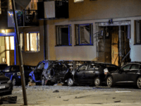 An explosion damaged residential building and cars are seen in central Stockholm on January 13, 2020. - Several nearby cars were also damaged by the blast, the cause of which was not known, in the affluent neighbourhood of Ostermalm. (Photo by Anders WIKLUND / various sources / AFP) / Sweden …