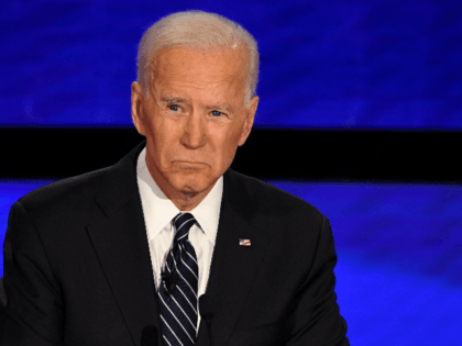 Democratic presidential hopeful former Vice President Joe Biden participates of the seventh Democratic primary debate of the 2020 presidential campaign season co-hosted by CNN and the Des Moines Register at the Drake University campus in Des Moines, Iowa on January 14, 2020. (Photo by Robyn Beck / AFP) (Photo by …