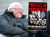 (INSET: Cover of Peter Schweizer's book 'Profiles in Corruption' COLUMBIA, SC - JANUARY 20: Democratic presidential candidates, Sen. Bernie Sanders (I-VT) and Tom Steyer share a laugh during King Day at the Dome March and Rally on January 20, 2020 in Columbia, South Carolina. First held in 2000 in opposition …