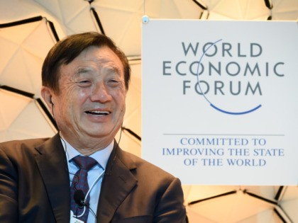 Huawei CEO Ren Zhengfei attends a session at the Congress center during the World Economic Forum (WEF) annual meeting in Davos, on January 21, 2020. (Photo by Fabrice COFFRINI / AFP) (Photo by FABRICE COFFRINI/AFP via Getty Images)