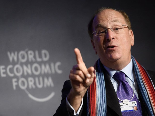 BlackRock Chair and CEO Laurence D. Fink attends a session at the World Economic Forum (WEF) annual meeting in Davos, on January 23, 2020. (Photo by FABRICE COFFRINI / AFP) (Photo by FABRICE COFFRINI/AFP via Getty Images)