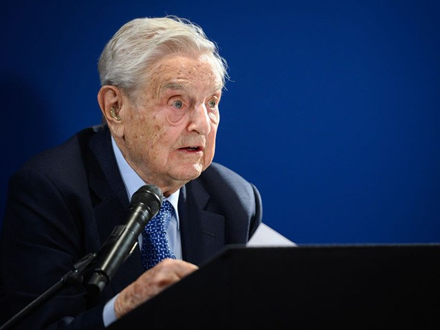 Hungarian-born US investor and philanthropist George Soros delivers a speech on the sidelines of the World Economic Forum (WEF) annual meeting, on January 23, 2020 in Davos, eastern Switzerland. (Photo by FABRICE COFFRINI / AFP) (Photo by FABRICE COFFRINI/AFP via Getty Images)