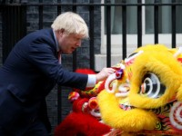 LONDON, ENGLAND - JANUARY 24: Prime Minister Boris Johnson hosts Chinese New Year celebrations outside 10 Downing Street on January 24, 2020 in London, England. The lunar new year, which begins tomorrow, marks the Year of the Rat according to the Chinese zodiac. (Photo by Lauren Hurley/Getty Images)