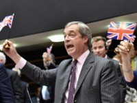 Farage's Final EU Speech: Mic Gets Cut as He Waves UK Flag in Victory