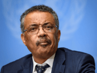 World Health Organization (WHO) Director-General Tedros Adhanom Ghebreyesus briefs the press on evolution of new coronavirus epidemic on January 29, 2020 in Geneva. (Photo by FABRICE COFFRINI / AFP) (Photo by FABRICE COFFRINI/AFP via Getty Images)