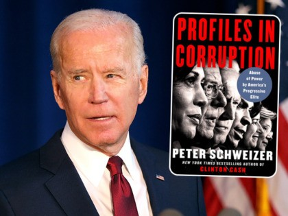 (INSET: cover of the book Profiles in Corruption) NEW YORK, NEW YORK - JANUARY 07: Democratic presidential candidate, former Vice President Joe Biden delivers remarks on the Trump administration's recent actions in Iraq on January 07, 2020 in New York City. Biden criticized Trump for not having a clear policy …