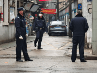 "Police patrol a neighborhood on January 22, 2020 in Wuhan, China. The cause of the person's illness is as of yet unknown. A new infectious coronavirus known as ""2019-nCoV"" was discovered in Wuhan as the number of cases rose to over 400 in mainland China. Health officials stepped up efforts …"