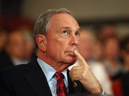 BIRMINGHAM, ENGLAND - OCTOBER 10: Michael Bloomberg, the Mayor of New York City, looks on before delivering his speech to delegates on the last day of the Conservative party conference, in the International Convention Centre on October 10, 2012 in Birmingham, England. In his speech to close the annual, four-day …