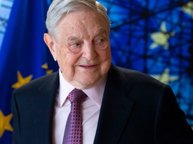 George Soros, Founder and Chairman of the Open Society Foundations arrives for a meeting in Brussels, on April 27, 2017.