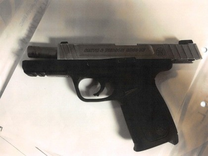 Del Rio Sector Border Patrol agents recovered a loaded pistol from an alleged human smuggler's vehicle. (Photo: U.S. Border Patrol/Del Rio Sector)