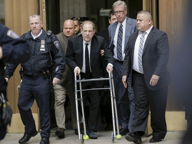 Harvey Weinstein leaves New York court, Monday, Jan. 6, 2020, in New York. The disgraced movie mogul faces allegations of rape and sexual assault. Jury selection begins this week. (AP Photo/Seth Wenig)