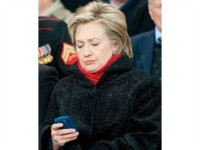 Hillary Clinton on Blackberry