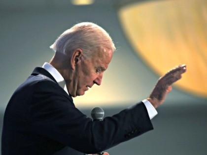 WEST DES MOINES, IOWA - JANUARY 18: Democratic presidential candidate, former U.S. Vice President Joe Biden speaks at the Iowa State Educators Association (ISEA) forum at the Sheraton West Des Moines Hotel on January 18, 2020 in West Des Moines, Iowa. Numerous candidates for the democratic nomination for president appeared …