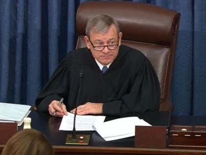 John Roberts impeachment (Senate TV / Getty)