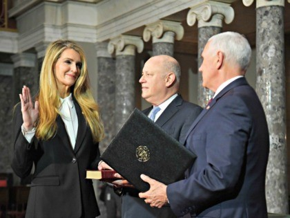 Loeffler Swearing In MANDEL NGANAFP via Getty Images)