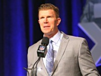 PHOENIX, AZ - JANUARY 30: Former NFL player Matt Birk speaks during the Don Shula High School Coach Of The Year Press Conference prior to the upcoming Super Bowl XLIX at Phoenix Convention Center on January 30, 2015 in Phoenix, Arizona. (Photo by Mike Lawrie/Getty Images)