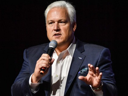 US Matt Schlapp, chairman of the American Conservative Union, speaks during the Conservative Political Action Conference (CPAC), in Sao Paulo, Brazil, on October 11, 2019. (Photo by NELSON ALMEIDA / AFP) (Photo by NELSON ALMEIDA/AFP via Getty Images)