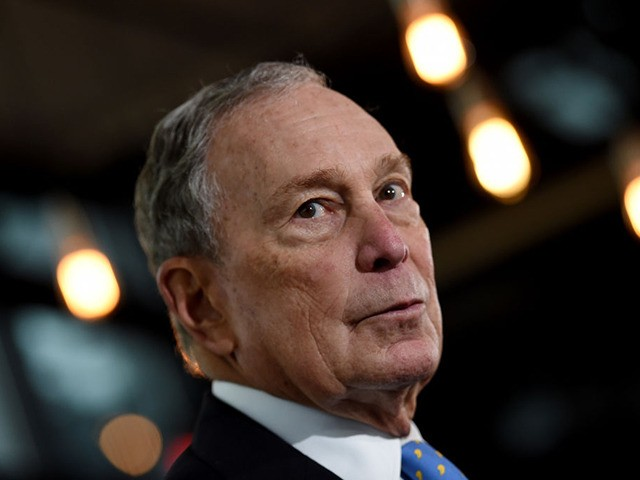 Former New York Mayor and Democratic presidential candidate Michael Bloomberg speaks about his plan for clean energy during a campaign event at the Blackwall Hitch restaurant in Alexandria, Virginia, on December 13, 2019. (Photo by Olivier Douliery / AFP) (Photo by OLIVIER DOULIERY/AFP via Getty Images)