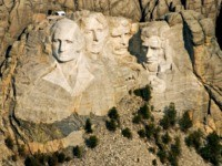 This April 22, 2008 file photo shows the Mount Rushmore National Memorial in the Black Hills of South Dakota. A U.S. Geological Survey report announced Monday, May 2, 2016, concluded that past fireworks displays at Mount Rushmore are the likely source of a pollutant found in water within the site …